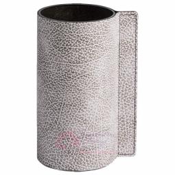 Стеклянная ваза для цветов обшитая кожей LIND DNA \ 98968