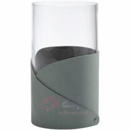 Стеклянная ваза для цветов с кожаной отделкой LIND DNA \ 983674
