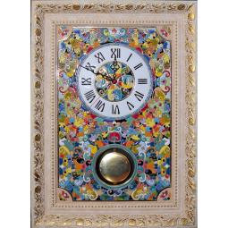 Большие настенные часы ручной работы с маятником 50*45 см РусАрт \ Ч-9003