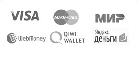 Оплата банковскими картами, электронными деньгами
